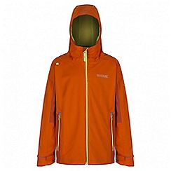 Regatta - Boys' orange hipoint stretch waterproof jacket
