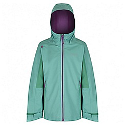 Regatta - Girls' mint green hipoint stretch waterproof jacket
