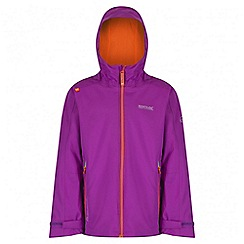 Regatta - Girls' purple hipoint stretch waterproof jacket