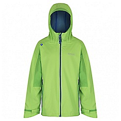 Regatta - Boys' green hipoint stretch waterproof jacket