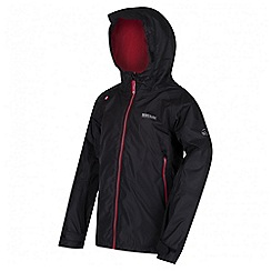 Regatta - Boys' black allcrest waterproof jacket