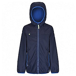 Regatta - Boys' navy leverage waterproof jacket