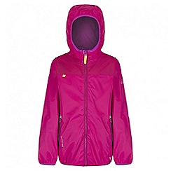 Regatta - Girls' pink leverage waterproof jacket