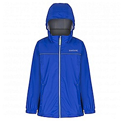 Regatta - Boys' blue fieldfare waterproof jacket