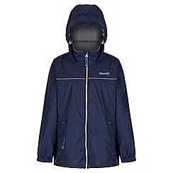 Regatta - Boys' navy fieldfare waterproof jacket
