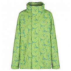 Regatta - Boys' green printed overchill waterproof jacket
