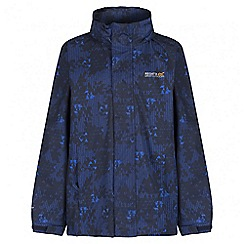 Regatta - Boys' navy printed overchill waterproof jacket