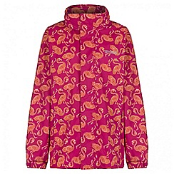 Regatta - Girls' pink printed overchill waterproof jacket