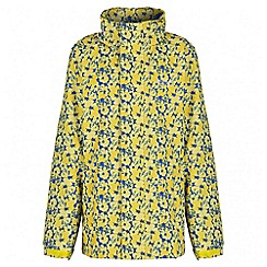 Regatta - Girls' yellow printed overchill waterproof jacket