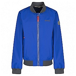 Regatta - Boys' blue witton bomber waterproof jacket
