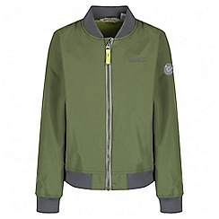 Regatta - Boys' green witton bomber waterproof jacket
