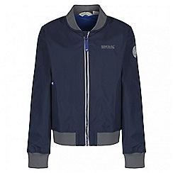 Regatta - Boys' navy witton bomber waterproof jacket