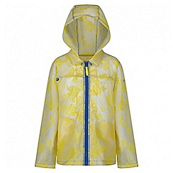 Regatta - Girls' yellow epping rain mac