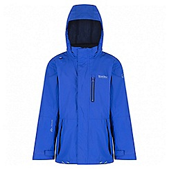 Regatta - Boys' blue aluminite waterproof jacket