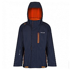 Regatta - Boys' navy aluminite waterproof jacket