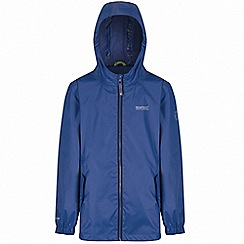 Regatta - Boys' blue disguize waterproof jacket