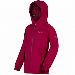 Regatta - Girls' pink disguize waterproof jacket