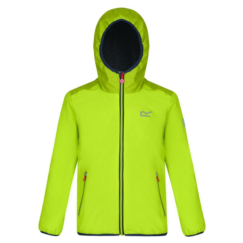 Regatta Kids Green Volcanics waterproof jacket