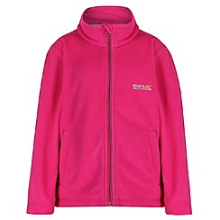 Regatta - Kids Pink Vizor zip through fleece
