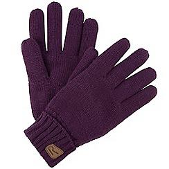 Regatta - Purple Multimix knitted gloves