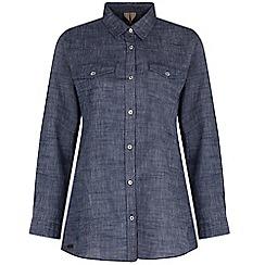 Regatta - Blue Ambray long sleeved shirt