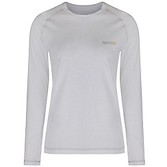 Regatta - White Jacey long sleeved t-shirt