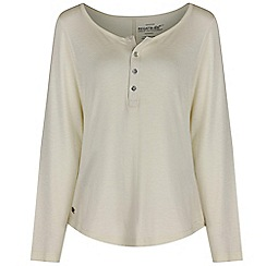 Regatta - White Nolany long sleeved top