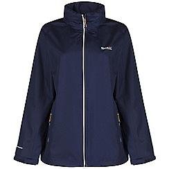 Regatta - Navy kelsie waterproof jacket