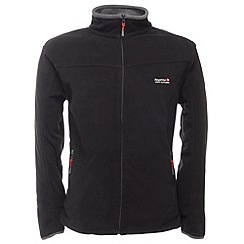 Regatta - Black / sealgrey stanton full zip fleece jacket