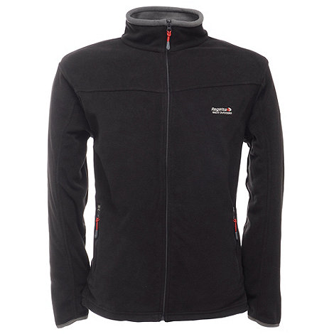 Regatta - Black / sealgrey stanton full zip fleece jacket