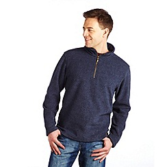 Regatta - Navy lineridge half zip fleece