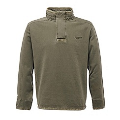 Regatta - Dark khaki nenville half zip fleece