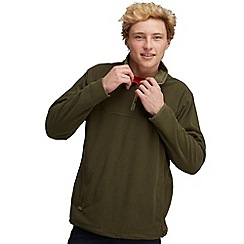 Regatta - Khaki green sails call half zip fleece
