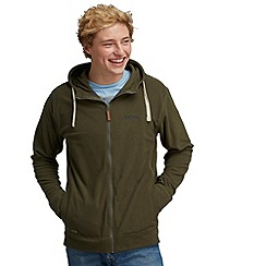 Regatta - Khaki green gridwell hooded fleece