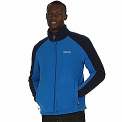 Regatta - Blue/navy hedman zip through fleece