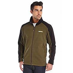 Regatta - Green/black hedman zip through fleece