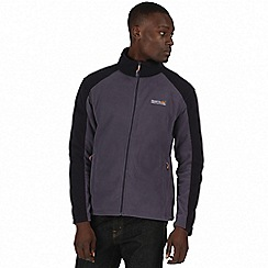 Regatta - Grey / black Hedman zip through fleece