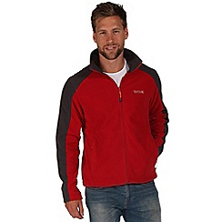 Regatta - Red / grey hedman zip through fleece