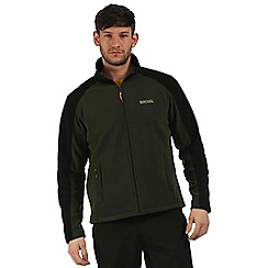 Regatta - Dark green Hedman zip through fleece