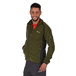 Regatta - Green mons lightweight fleece jacket