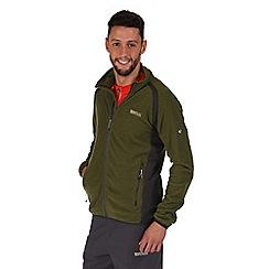 Regatta - Green mons lightweight fleece jacket