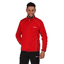 Regatta - Red ashton zip through fleece