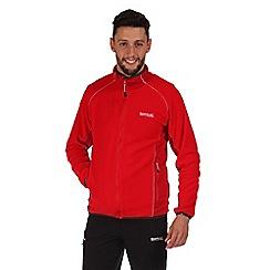 Regatta - Red ashton zip through fleece