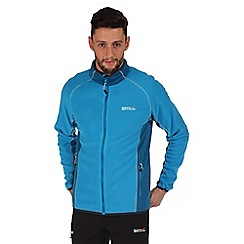 Regatta - Blue ashton zip through fleece