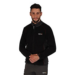 Regatta - Black ashton zip through fleece