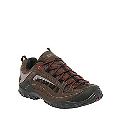 Regatta - Brown/red edgepoint walking shoe