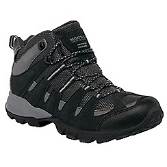 Regatta - Black/granite garsdale mid walking boot