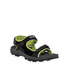 Regatta - Black/lime green terrarock casual walking sandal