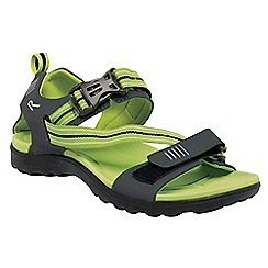 Regatta - Grey/lime green supa-swift casual walking sandal