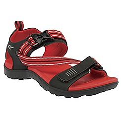 Regatta - Black/red supa-swift casual walking sandal